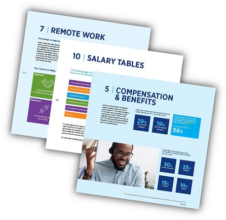 Canada Salary Guide sections including Remote Work, Salary Tales and Compensation & Benefits